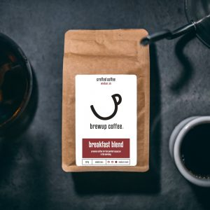 medium roast coffee beans breakfast brewup