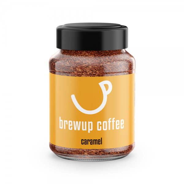 caramel flavoured instant coffee - brewup coffee